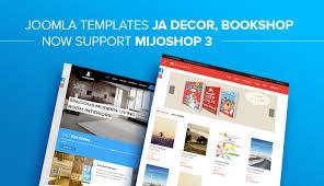 templates for bookshop joomla templates ja decor ja bookshop now support mijoshop 3
