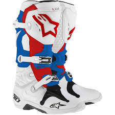 blue motorbike boots alpinestars new mx tech 10 dirt bike red blue white