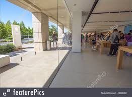 office architecture apple store silicon valley stock photo