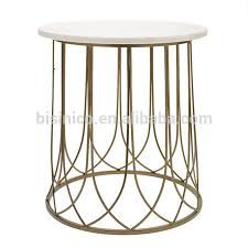 Iron Side Table Unique Design Iron End Table With Tripod Neo Classical Marble