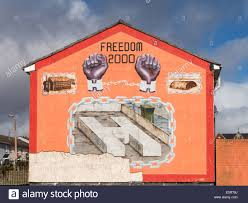 mural wall painting of notorious h block prison on side of house mural wall painting of notorious h block prison on side of house in belfast northern ireland