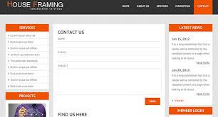 houseframing free responsive html5 template creative beacon