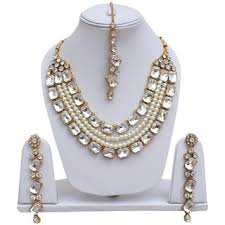 stone necklace set designs images Buy lucky jewellery designer white color stone necklace set for jpg