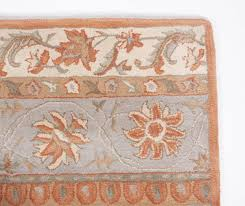 Rug 5x8 Traditional Royal Hand Tufted Wool Area Rug 5x8 Ivory Orange Blue