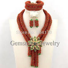 beads necklace set images Fantastic african beads jewelry set handmade crystal bridal jpg