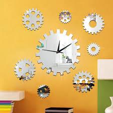 gear wall clock sticker 3d creative diy decoration wall watch