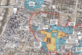 Map Of Memphis Tennessee by Campus Master Plan Uthsc