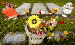 Flower Vase For Grave Graveside Flower Pots Benches No Longer Welcome At Cemetery