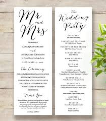 wedding program dimensions order of service printable templates connie joan