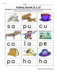 beginning middle end sounds kindergarten worksheets google