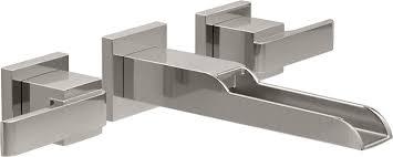 delta faucet delta t3568lf sswl ara two handle wall mount
