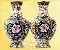 8 exquisite1pair 2pcs gold flower cloisonne vase ornament home