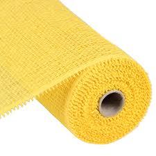 deco paper mesh 10 woven paper mesh yellow