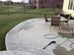 How To Clean Colored Concrete Patio How To Seal A Concrete Patio Simple Weekend Project Tools In