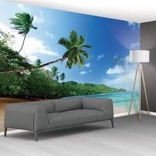 landscape 1wall tropical beach sea palm trees exotic mural wallpaper 366cm x 253cm