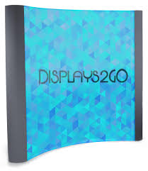 trade show stands w curved u0026 straight vinyl graphic panels