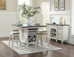 mystic cay weathered kitchen island set from avalon furniture
