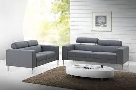 canapé 3 2 places tissu canapé design 3 places en tissu gris avec tétières réglables