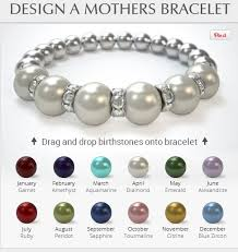 mothers birthstone bracelets design a unique mothers jewelry bracelet great s day gift
