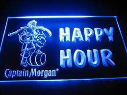captain morgan neon bar light happy hour captain morgan neon light sign friends and sisters
