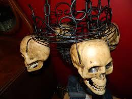 halloween tea lights diy candlelit skull hanging chandelier halloween prop 8 steps