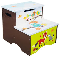 enchanted woodland step stool with storage contemporary kids