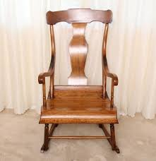 Antique Pressed Back Rocking Chair Antique Solid Oak Lincoln Rocking Chair Ebth