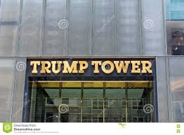 Trump Tower Ny Front Signage On Trump Tower New York Editorial Stock Photo
