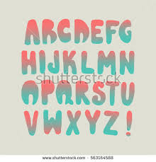 graphic font your design hand drawn stock vector 563164738