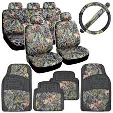 camo seat covers heavy duty rubber floor mats steering wheel cover
