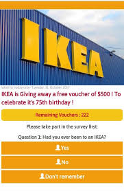 be warned messages offering free 500 ikea vouchers are scams