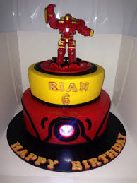 ironman cake with touch light custom made cakes pinterest