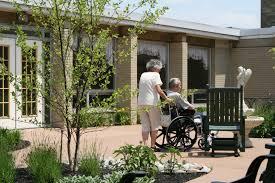 care home garden finished nursing home shrewsbury care home with