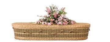 wicker casket coffins caskets oakdale funerals
