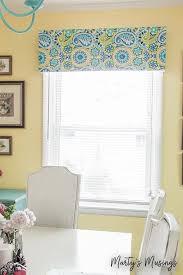 Making A Valance Window Treatment No Sew Window Valance
