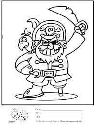 pirate coloring pages for preschool creativemove me