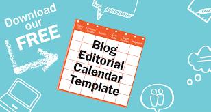 free blog editorial calendar template
