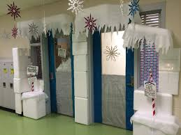 Office Christmas Door Decorating Contest Ideas Winter Wonderland Classroom Door Decoration I Had Many Styrofoam