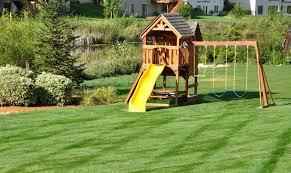 Small Backyard Swing Sets by Triyae Com U003d Backyard Playground Set Various Design Inspiration
