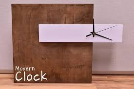 Free Simple Wood Clock Plans by How To Make A Modern Clock Diy Build Youtube