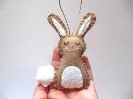 bunny ornament bunny rabbit ornament wool