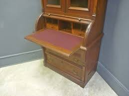 Tall Narrow Secretary Desk by Narrow Victorian Cylinder Roll Secretary Desk