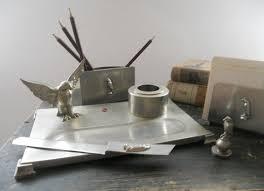Metal Desk Organizer Antique Desk Organizer Metal Accessories Tastevintage Dma Homes