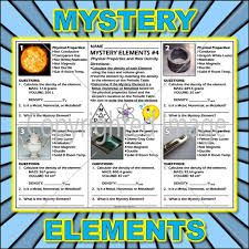 Metalloids On The Periodic Table Worksheet Mystery Elements And Their Density Version 4