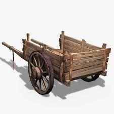 wooden cart другой транспорт 3d and models