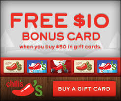 gift cards deals restaurant deals chili s gift card bonus free kids hot chocolate