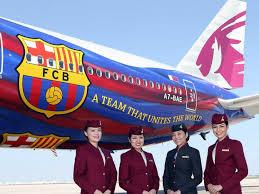 qatar airways paints 777 for fc barcelona business insider