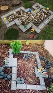 Backyard Ideas For Toddlers Backyard Projects For Diy Race Car Track Cinder Backyard