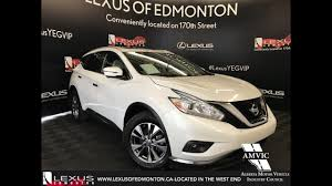 nissan suv 2016 white used white 2016 nissan murano sl walkaround review cold lake