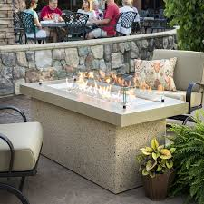outdoor greatroom fire table shop outdoor greatroom company 25 5 in w 80000 btu stainless steel